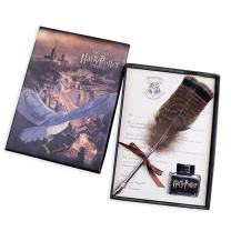 GloDeals Antique Dip Feather Pen Set, Calligraphy Pen Set Harry Potter Writing Quill Ink Dip Pen Best Christmas Gifts
