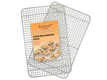 "Goson Kitchen Stainless Steel Heavy Duty Metal Wire Cooling, Cooking, Baking Rack For Baking Sheet, Oven Safe up to 575F, Dishwasher Safe Rust Free | 10""x16""; SET OF 2"