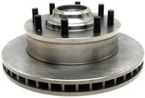 ACDelco 18A63A Advantage Non-Coated Front Disc Brake Rotor and Hub Assembly