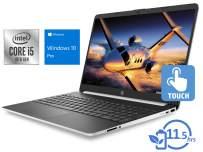 "HP 15 Laptop, 15.6"" HD Touch Display, Intel Core i5-1035G1 Upto 3.6GHz, 8GB RAM, 128GB NVMe SSD, HDMI, Card Reader, Wi-Fi, Bluetooth, Windows 10 Pro"