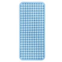 YINENN Bath Tub Shower Mat 35x15.5 Inch Non-Slip and Phthalate Latex Free,Bathtub Mat with Suction Cups,Machine Washable XL Size Bathroom Mats with Drain Holes (Blue)