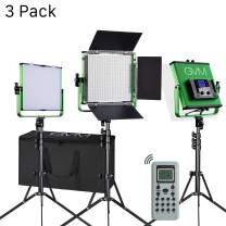 GVM 520S Master Series Video Lighting Kit with Memory Button Function and Wireless Remote Control, CRI97 / 3200-5600k /Photography Lighting for Studio, Portrait Shooting, Interview Video Tracking