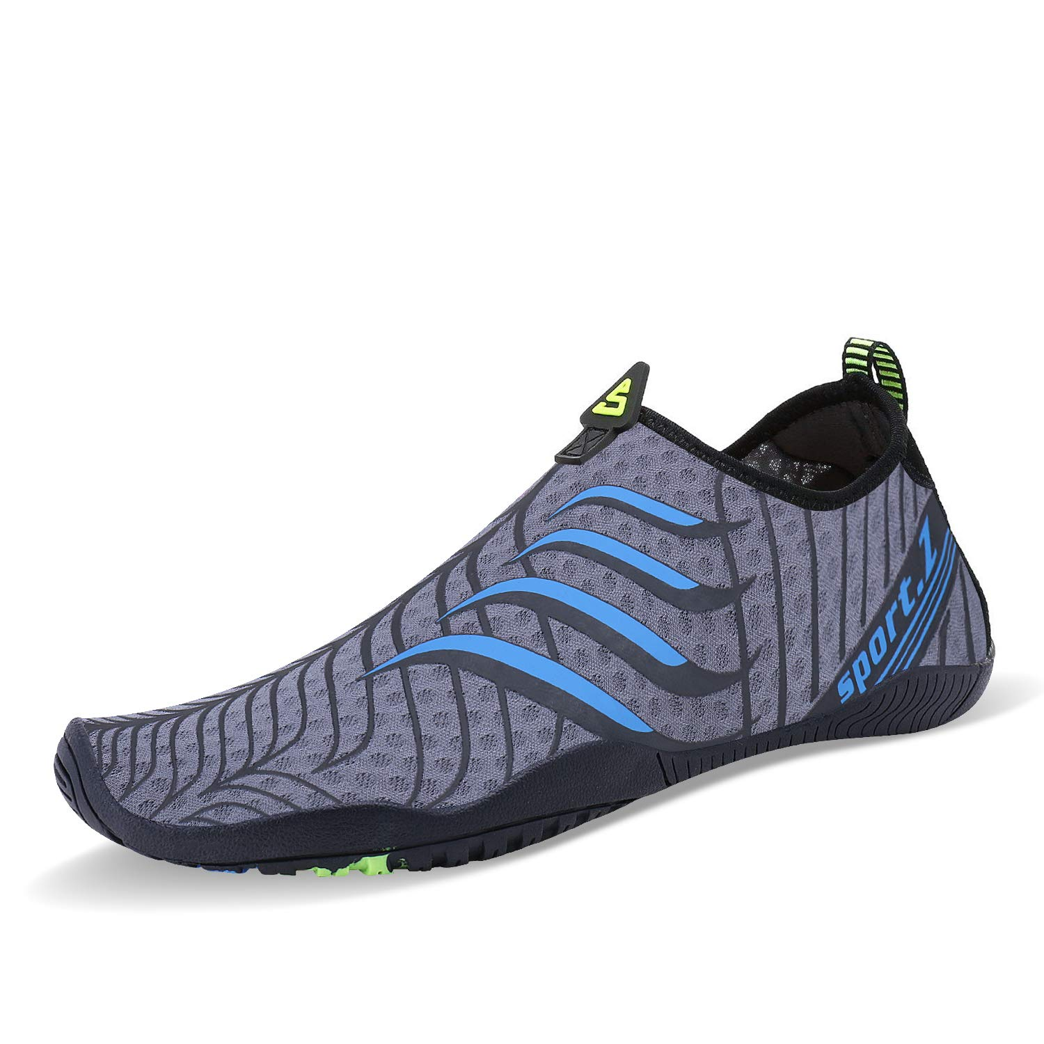 PENGCHENG Mens Womens Water Sports Shoes Quick-Dry Lightweight Barefoot Wide Feet Toe Solid Drainage Sole for Swim Diving Surf Aqua Pool Beach Jogging Trip