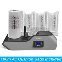 JZBRAIN Air Cushion Machine Air Pillow Maker Pillow Making Machine Air Bags Packing Machine Heating Up in 2 Minutes Air Cushion Speed 6.0 to 7.2 m/mim 100m Trial Run Film Roll Included (Black)