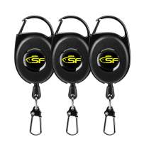 SF Fly Fishing Zinger Retractor 3 pcs Fly Fishing Anglers Tool Gear Combo Steel Cord
