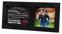 "KH Sports Fan Black 16""x8"" Arkansas Razorbacks Family Cheer Single Collage Photo Frame"