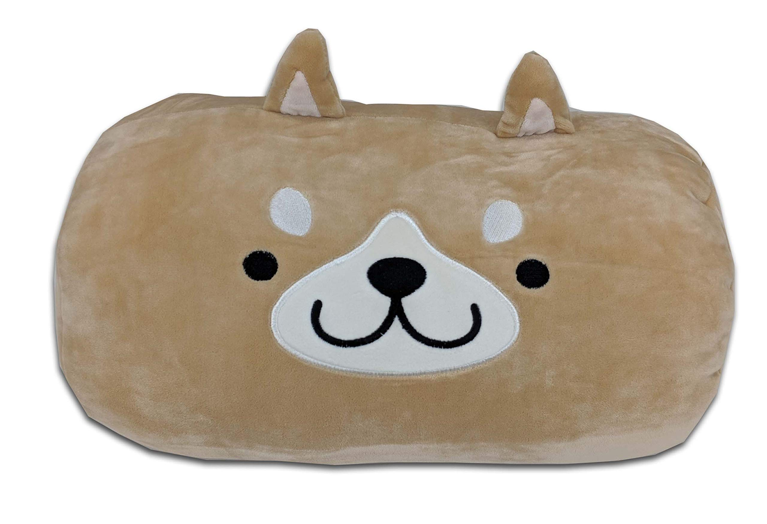 Smiling Dog Face Hand Muff - Brown, Polyester, Warm, Unisex, Adult and Children
