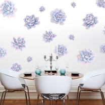 Afterglow Succulent Watercolor Wall Decal Kit - Flower Wall Decal by Chromantics