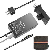 Surface Pro Charger,44W 15V 2.58A Power Supply,Compatible Microsoft Surface Pro 3/4/5/6/7/X,Surface Laptop/2/3/Go,Surface Go/Go 2,Surface Book/Book 2,with 6.2 Ft Cable Wall Plug and Travel Case