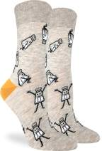 Good Luck Sock Women's Salt Shaker Socks - Grey, Adult Shoe Size 5-9