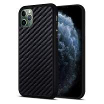JuBeCo iPhone 11 Pro Case, The Real Aramid Carbon Fiber Protective Cover with Flexible TPU Bumper for iPhone 11 pro 5.8-inch (Carbon Fiber)