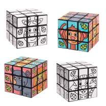 Baker Ross Jungle Animal Colour-in Puzzle Cubes (Pack of 2)