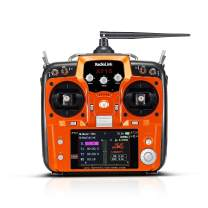Radiolink AT10II 2.4G 12 Channels RC Transmitter and Receiver R12DS Remote Controller for RC FPV Drone,Quad, Fixed Wing Airplane,Helicopter and More (Mode 2 Left Hand Throttle)