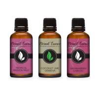 30ML - Trio (3) - Tropical Passion Fruit, Bahama Berry & Melon & Coconut Lime Verbena - Premium Fragrance Oil Trio - 30ML