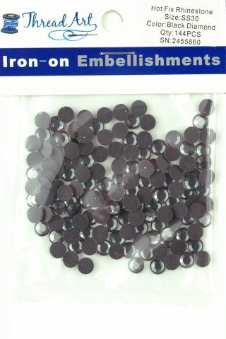 1440//pkg Iron on Crystal Hot Fix Rhinestones 10 Gross Hotfix 3mm Threadart SS10 32 colors 4 Sizes
