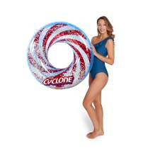 Popsicle Inflatable Pool Float - Creamsicle, Rainbow, Cyclone, Firecracker, and More - Durable, Large Floats - Perfect for Pool, Beach, Party (Cyclone Glitter Tube)