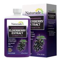 Naturade Standardized Elderberry Extract Syrup with Vitamin C & Zinc, 4.2 fl oz (125 ml)