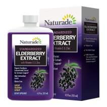 Naturade Standardized Elderberry Extract Syrup with Vitamin C & Zinc, 4.2 fl oz (125 ml)