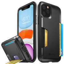 Vena iPhone 11 Pro Card Case, vSkin Slim Wallet Case with Credit Card Holder Slot, Designed for iPhone 11 Pro (5.8 inches) - Black
