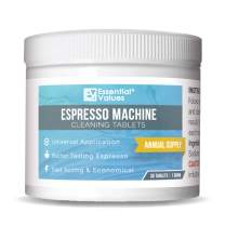 Essential Values Espresso Machine Cleaning Tablets (30 Tablets), Perfect for Jura, Miele, and Breville Espresso Machines - Made in USA