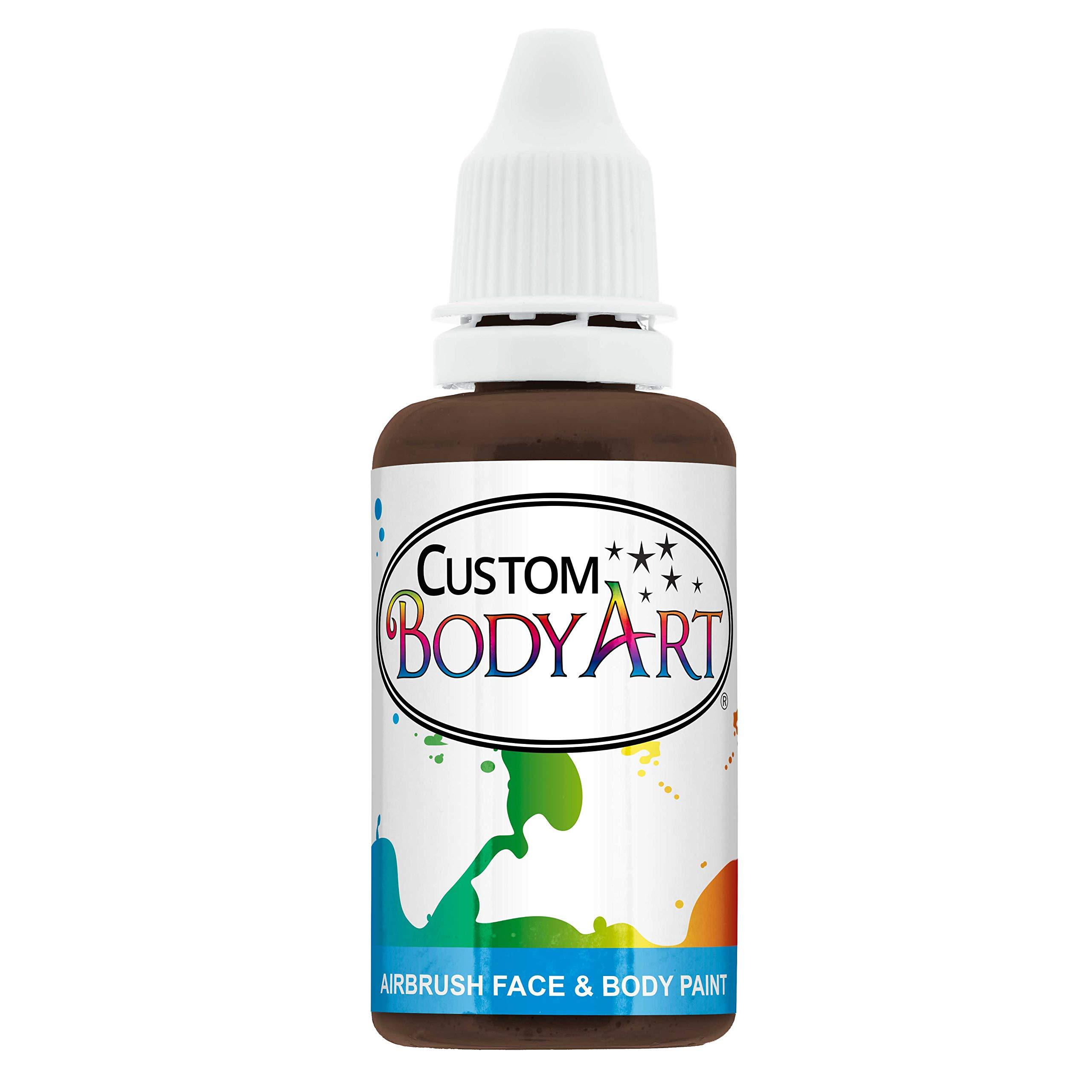 Custom Body Art 1-Ounce Brown Water Based Airbrush Body Art & Face Paint