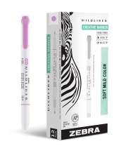 Zebra Pen Mildliner, Double Ended Highlighter, Broad and Fine Tips, Magenta, 12-Count