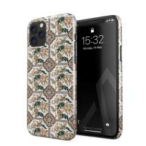BURGA Phone Case Compatible with iPhone 11 PRO MAX - Vintage Flower Pattern for Girls Woman Boho Bohemian Summer Mosaic Pattern Cute Case for Women Thin Design Durable Hard Plastic Protective Case