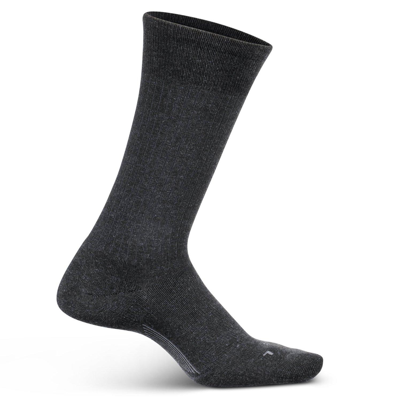 Feetures Mens Everyday Cushion Crew Sock (Medium, Charcoal)
