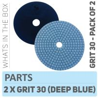 Stadea PPW208D Concrete Polishing Pads 5 Inch Grit 30 - Diamond Pads For Concrete Terrazzo Marble Floor Counter Wet Polishing - Pack of 2