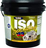 Ultimate Nutrition Iso Sensation 93 Fat Free Whey Protein Isolate Powder with Glutamine – 30 Grams of Pure Protein, Low Carb, Keto Friendly, Cookies N Cream, 5 Pounds