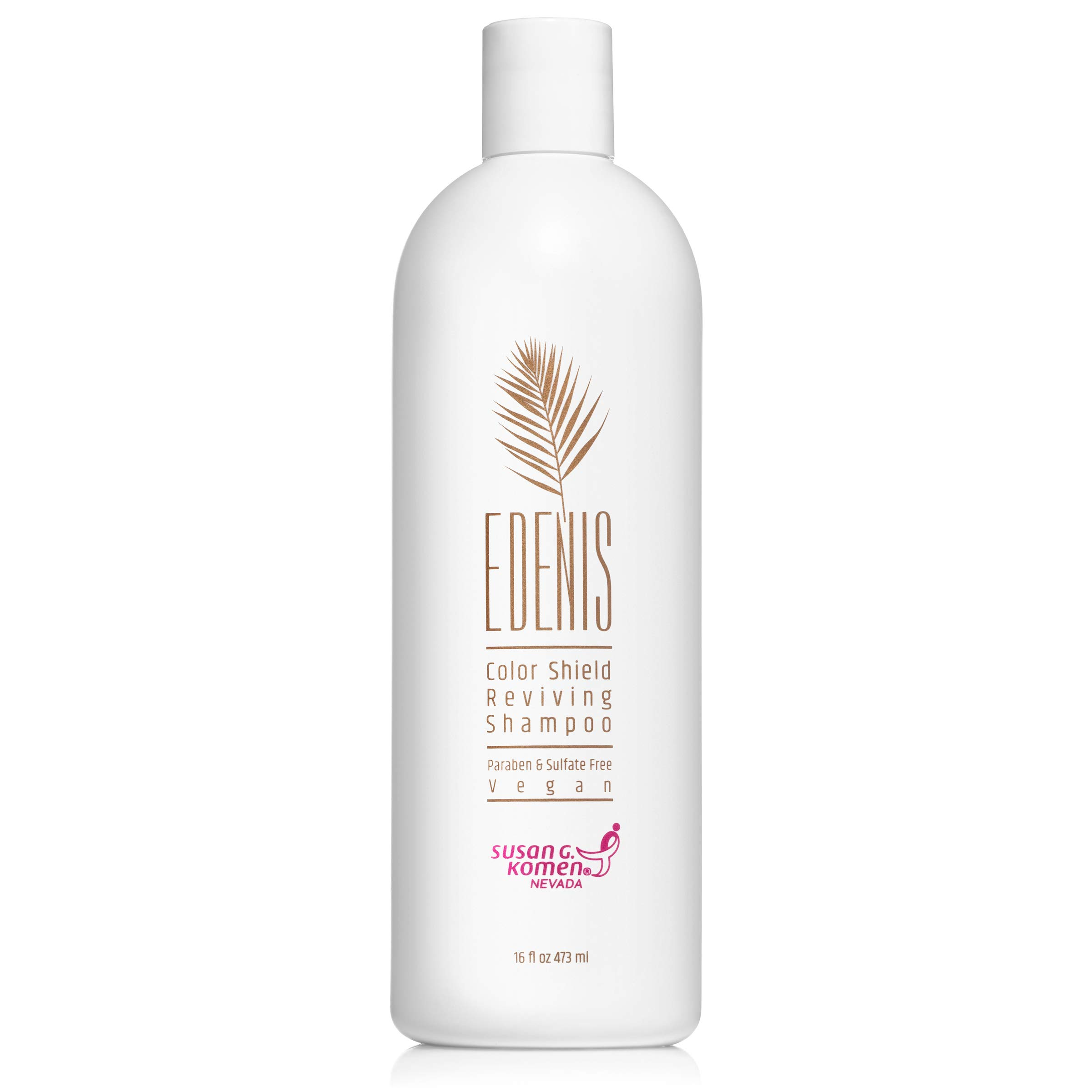 EDENIS Professional Sulfate Free Reviving Shampoo | Great for Color Treated Hair | Vegan, Natural Extracts to Revive & Hydrate Dry or Damaged Hair (8 Oz)