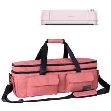 Weeare Double-layer Cricut Carrying Bag Compatible with Cricut Explore Air(Air2), Cricut Maker, Cricut Die-Cut Machine,Cricut Accessories Case Bag (Pink)