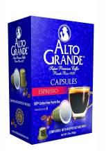 Alto Grande Super Premium Capsules for Nespresso Machines, 100 Percent Arabica Coffee From Puerto Rico (Espresso, 18 Count)