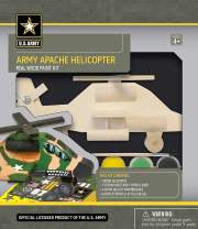 MasterPieces U.S. Army Real Wood Acrylic Paint & Craft Kit, Apache Helicopter, for Ages 4+