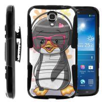 Compatible with Samsung Galaxy Mega Case | Mega 6.3 Case [Hyper Shock] Hybrid Reinforced Dual Layer Case Rubber Holster Belt Clip Kickstand Ocean Sea by TurtleArmor - Cute Penguin