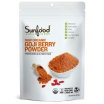 Sunfood Superfoods Goji Berry Powder - Raw, Organic, Non-GMO - 100% Pure Goji Fruit: No Additives or Preservatives - 8 oz Bag