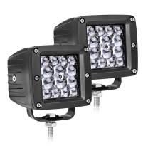 LED Pods,OFFROADTOWN 3inch 84W LED Work Light Quad Row Driving Lights Spot LED Cubes Off Road Light Bar Waterproof Fog Light For Truck Jeep ATV UTV Boat