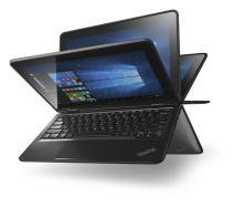 "Lenovo Thinkpad Yoga 11E-G3 Convertible, Intel:N3160/CQC, 1.6 GHz, 128 GB, Intel-HD/IGP, Windows 10 Home Edition-64 bit, Black, 11.6"" HD Touch"