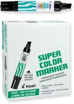 PILOT Super Color Jumbo Refillable Permanent Markers, Xylene-Free Black Ink, Extra-Wide Chisel Point, 12 Count (45100)