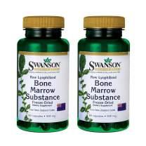 Swanson Raw Lyophilized Bone Marrow Substance 500 Milligrams 60 Capsules (2 Pack)