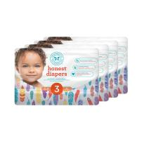 Honest Baby Diapers, Painted Feathers, Size 3 (136 Count)