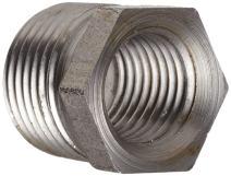 "Anvil 8700129003, Steel Pipe Fitting, Hex Bushing, 1/2"" NPT Male x 1/4"" NPT Female, Black Finish"