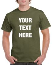 Custom Personalized Gildan t-Shirt Your Text Here No Minimums
