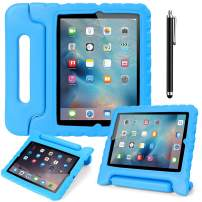 AICase Case for iPad 2 3 4,Kids Shockproof Bumper Hard Cover Handle Stand with Screen Protector for iPad 2nd 3rd 4th Generation (Blue)