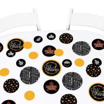 Big Dot of Happiness Give Thanks - Thanksgiving Party Giant Circle Confetti - Thanksgiving Party Decorations - Large Confetti 27 Count