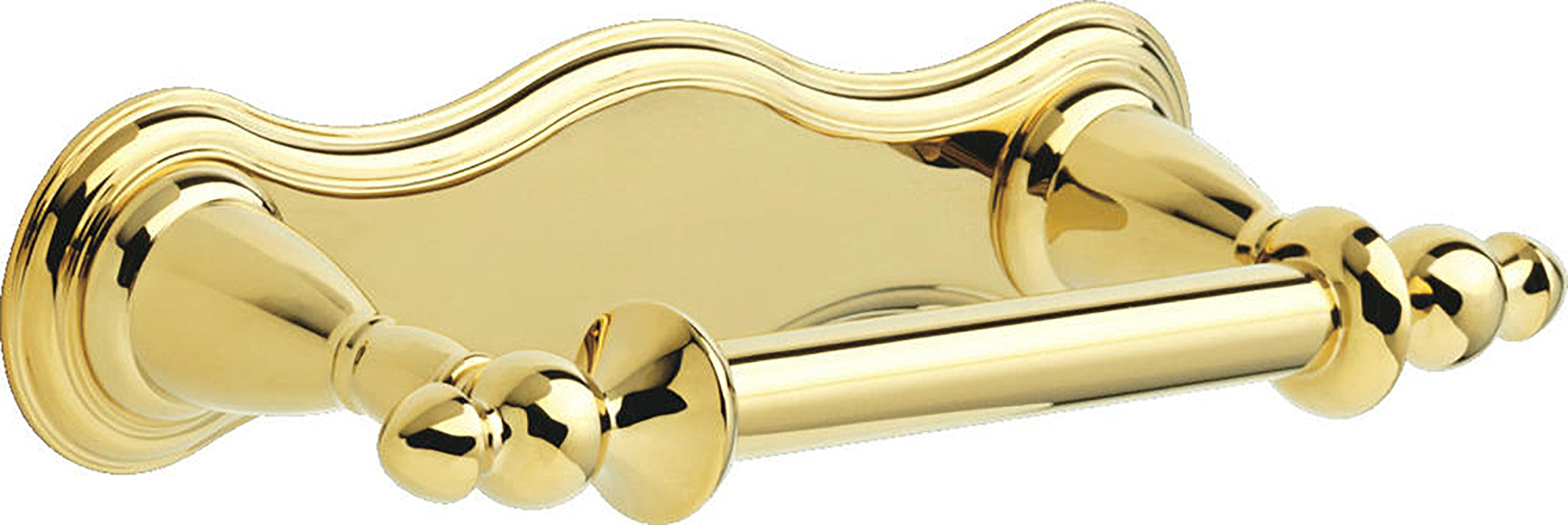 Delta Faucet 75050-PB Victorian Pivoting Toilet Paper Holder, Polished Brass