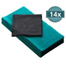 Microfiber Cleaning Cloth - Multipack Extremely Soft Glasses Cleaning Cloths - 8 x 8 inches (Pack of 14)