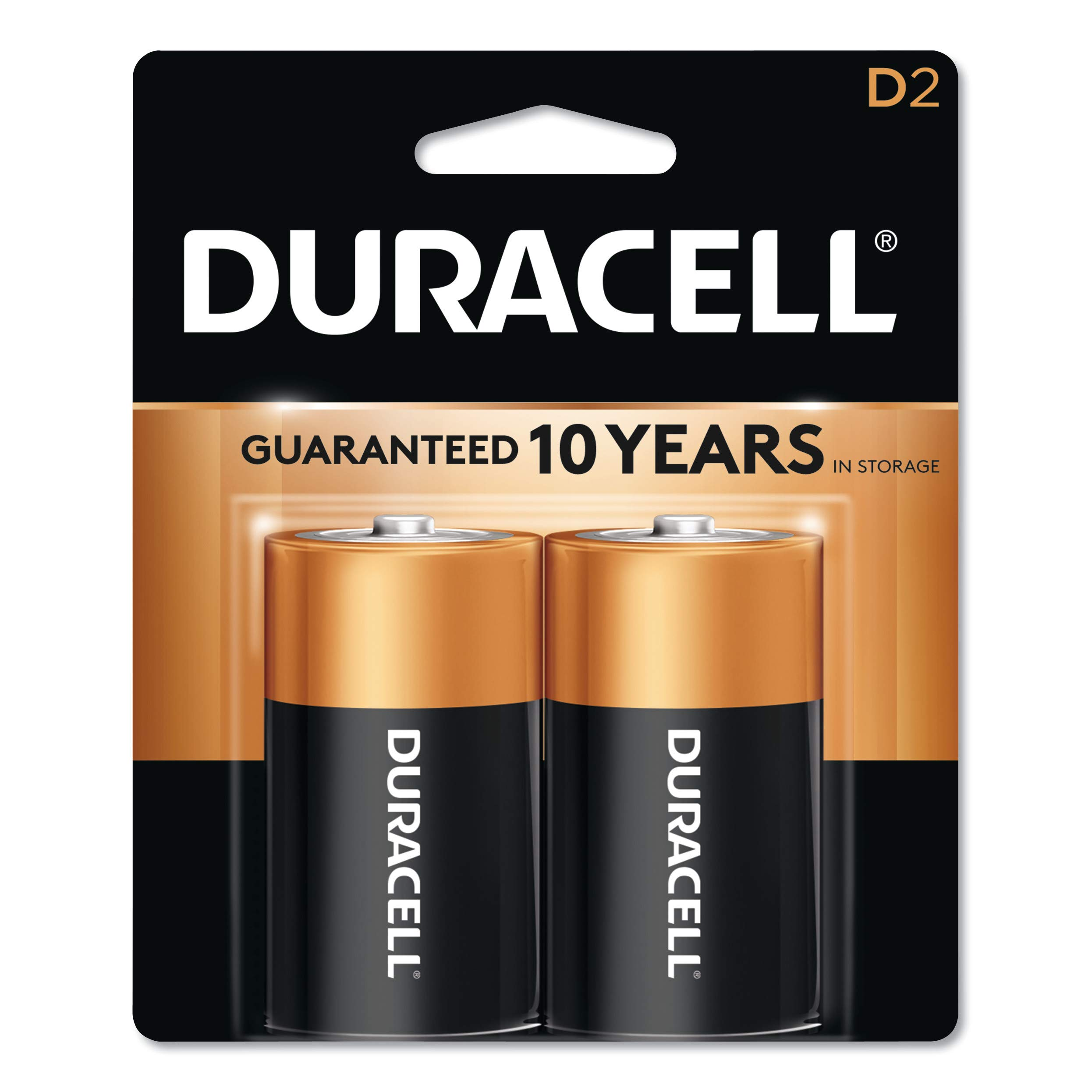 Duracell - CopperTop D Alkaline Batteries - long lasting, all-purpose D battery for household and business - 2 count