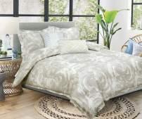 Nikki Chu Swirls 100% Cotton, King Comforter and Sham Set