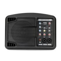 Tenuto Tech Black Ultra-Compact PA System 150-Watt PA Speaker/Monitor Speaker System Class-D Amplifier 3 Channel Mixer 3 Band EQ Powerful Compact Active Speaker System Amp With Mixer